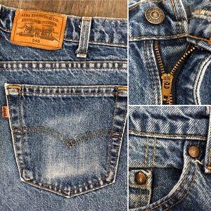 Levi's Jeans - Vintage 70's Levi's 540 brown tab jeans!
